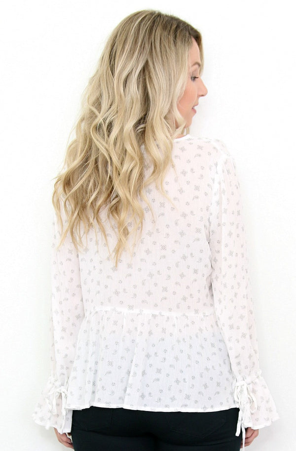 Bell Sleeve Paisley Top - Madison + Mallory