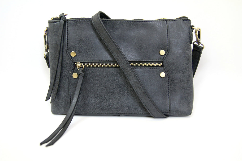 Black Zip Crossbody