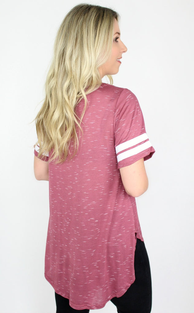 Relaxed Varsity Stripe Top