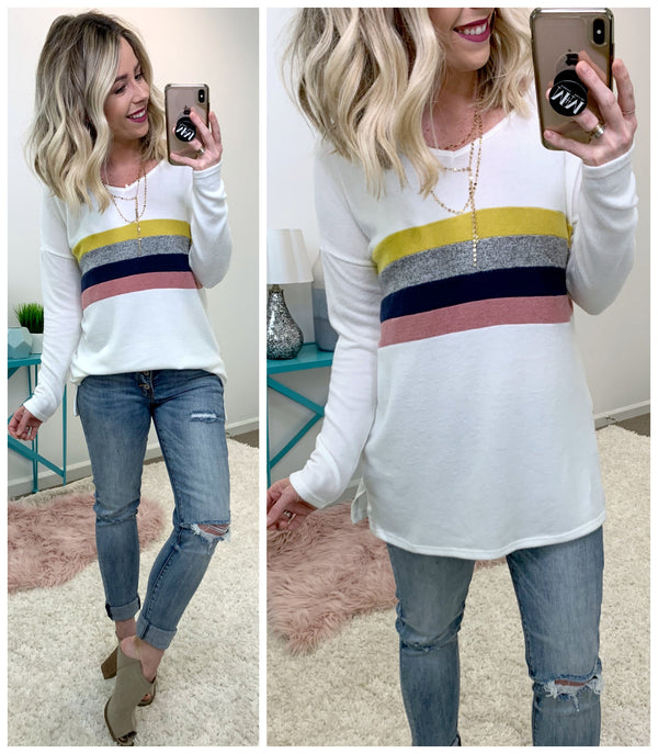 In Your Element Color Block Top