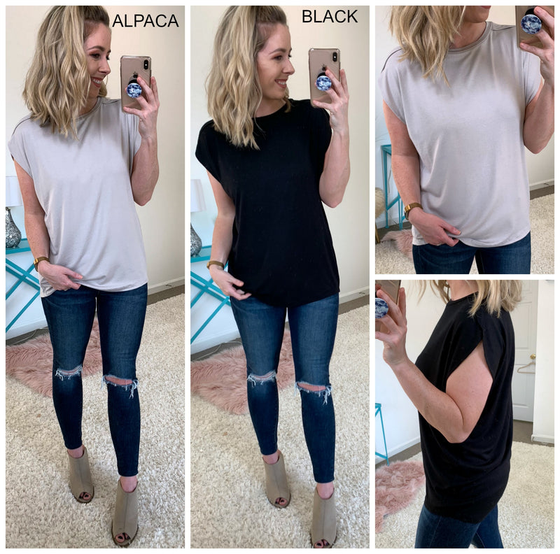 Crossover Cap Sleeve Top - Madison + Mallory