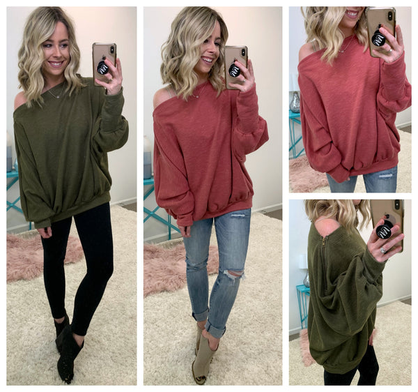 Can't Miss Me Dolman Pullover - Madison + Mallory