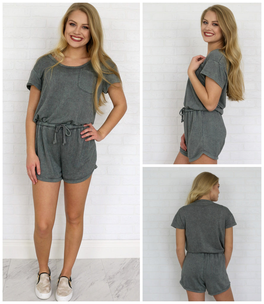Mineral Washed Romper