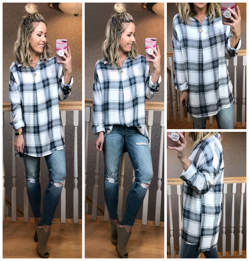 Ready for Anything Plaid Tunic - Madison + Mallory