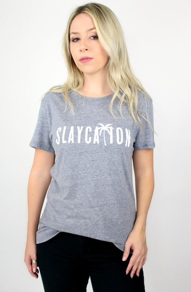 S / Gray Slaycation Graphic Tee - Madison + Mallory