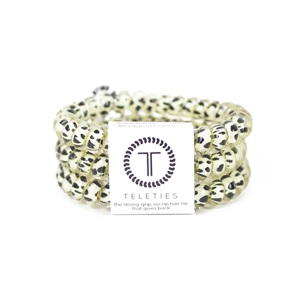 Small / Snow Leopard TELETIES 3 Pack Small - Madison + Mallory