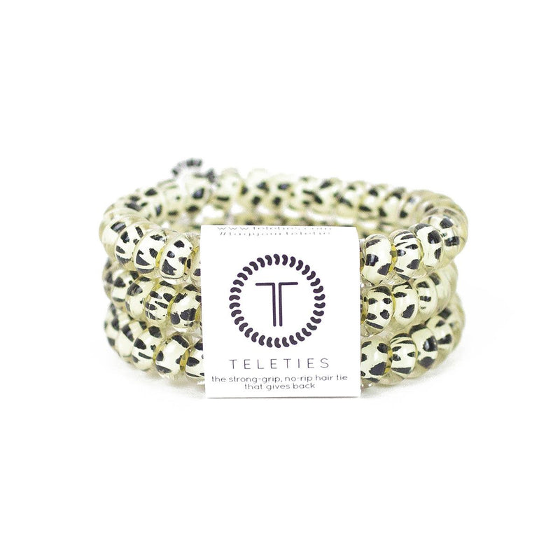 Small / Snow Leopard TELETIES 3 Pack Small - Madison and Mallory