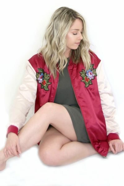 LA Varsity Bomber Jacket - Madison + Mallory