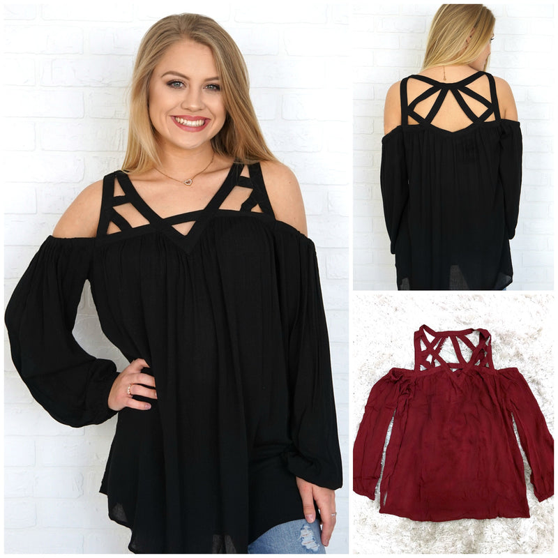 Strappy Tunic Top - Madison + Mallory