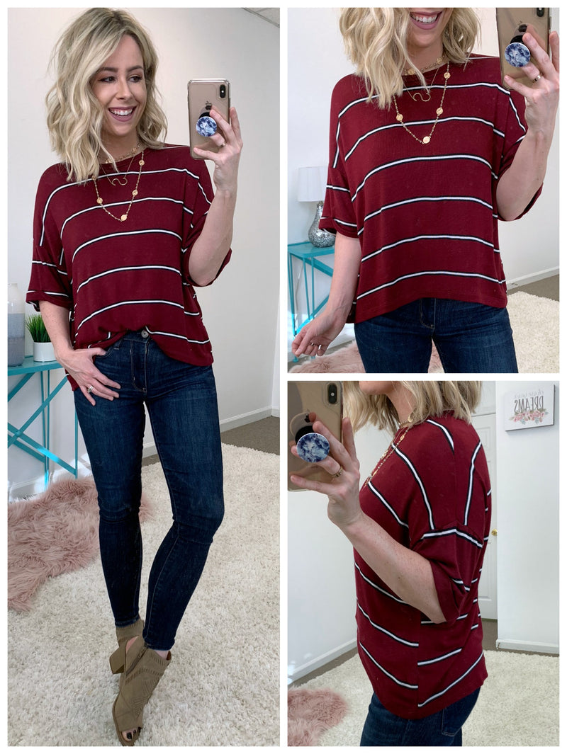 Adriel Knit Striped Top - Madison + Mallory