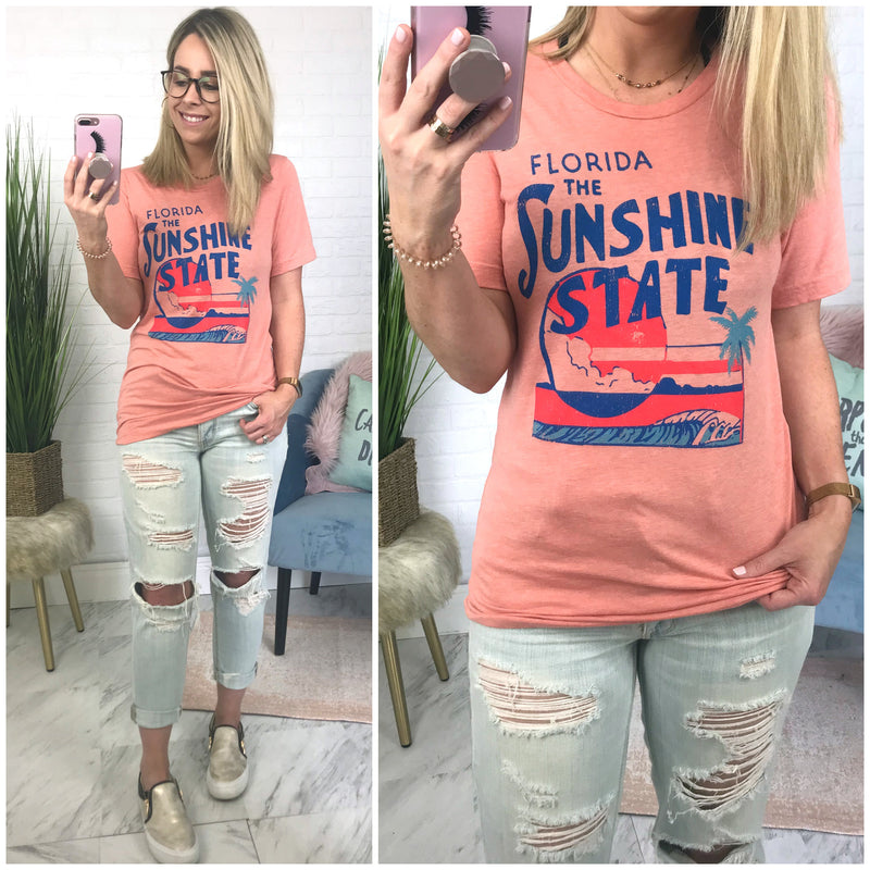 Sunshine State Postcard Graphic Top - Madison + Mallory