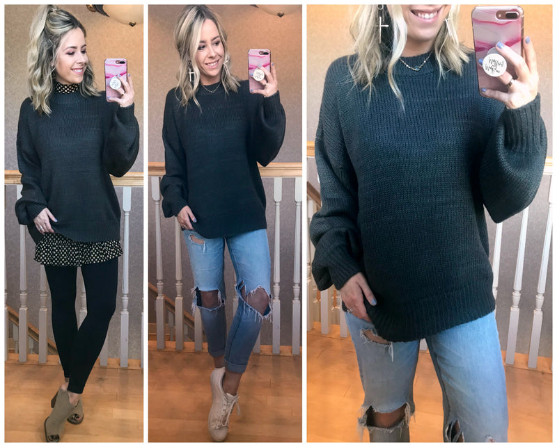 Athena Crew Neck Sweater - Madison + Mallory