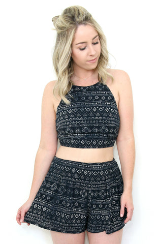 Halter Tribal Crop Top