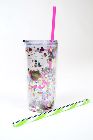 Let's Party Confetti 20 oz. Tumbler - Madison + Mallory