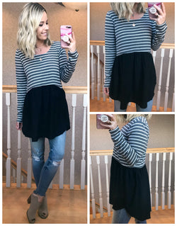 Jackie Striped Top - Madison + Mallory