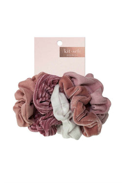 OS / Blush/Mauve Velvet Scrunchies | Blush or Gray - Madison + Mallory