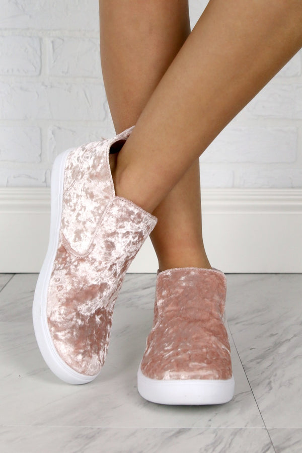 Velvet Sneakers - FINAL SALE - Madison + Mallory