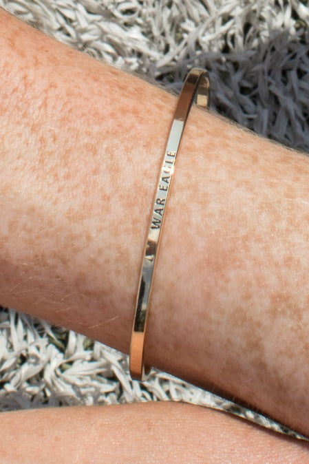 Gold / War Eagle Team Spirit Bracelets - Madison + Mallory
