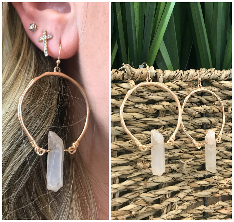 First Timer Stone Earrings - Madison + Mallory