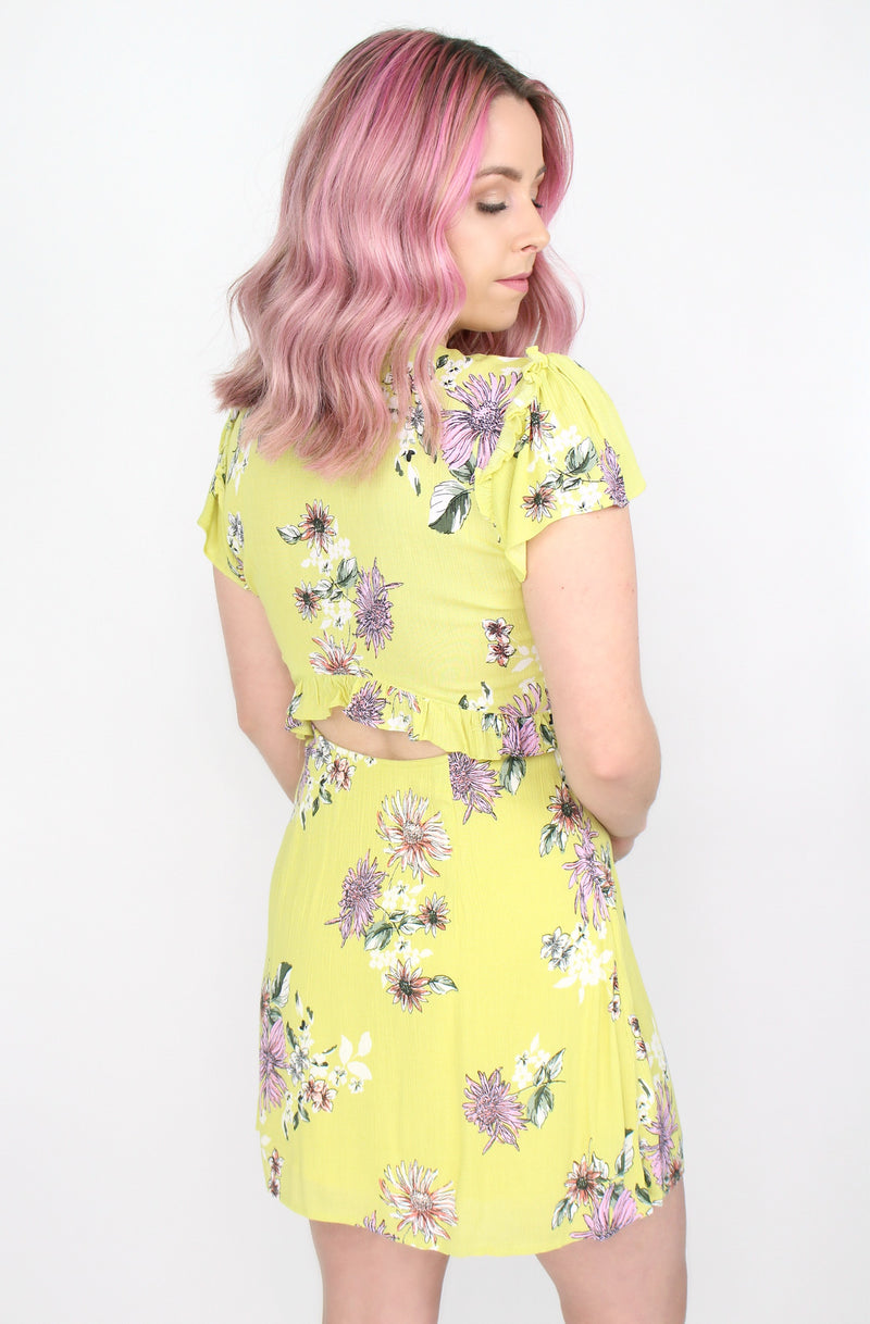 Knot Front Floral Dress - Madison + Mallory
