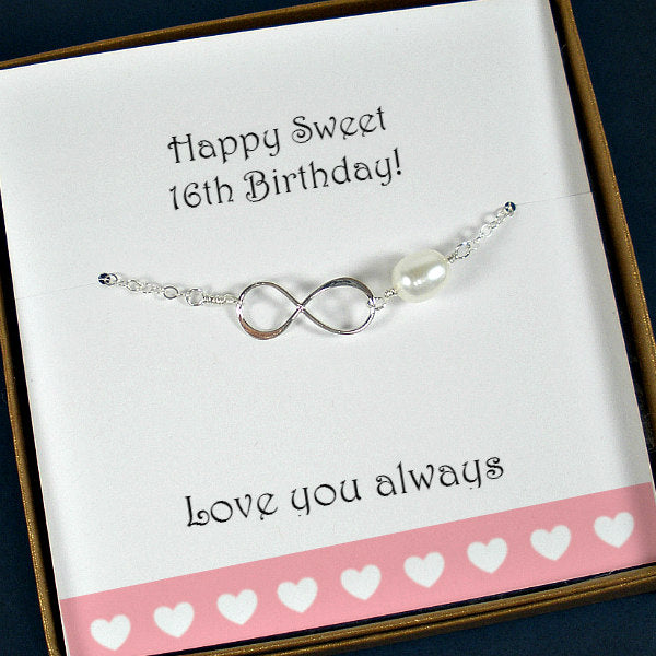 Sweet 16 Bracelet Gift Daughter Jewelry Happy 16th Birthday Idea