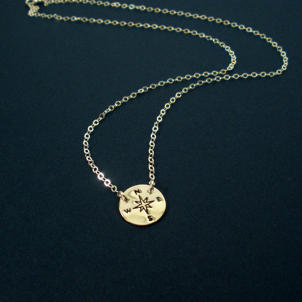Compass Necklace Sterling Silver Graduation New Job Gifts