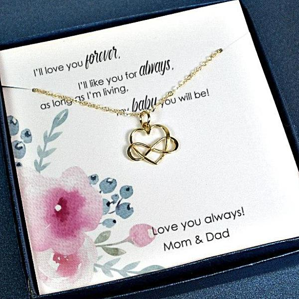 Daughter Gifts from Mom and Dad Wedding Birthday Necklace