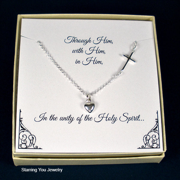 first communion gift for girls confirmation gifts cross necklace