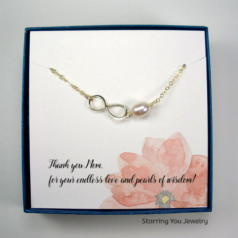mom gifts birthday mothers day christmas wedding gold infinity necklace