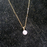 pearl bridesmaid necklace gift set swarovski gold