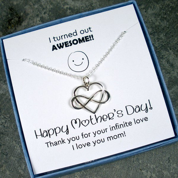 Mother's Day Gift Sterling Silver Necklace With Memorable Card