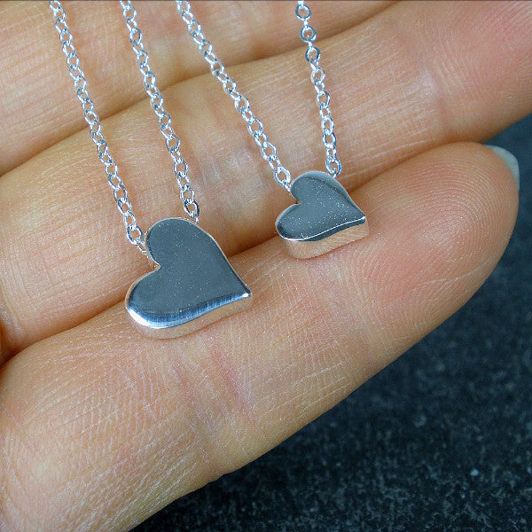 Minimal Heart Necklace, Sister Birthday, Christmas Gifts, Wedding Gift