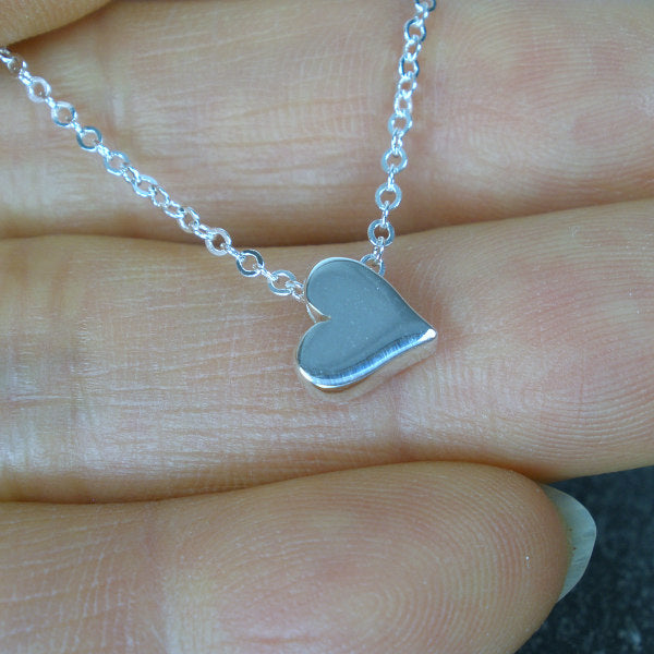 long distance mom gifts message card jewelry silver heart necklace