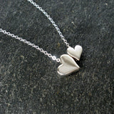 mom heart necklace gift sterling silver