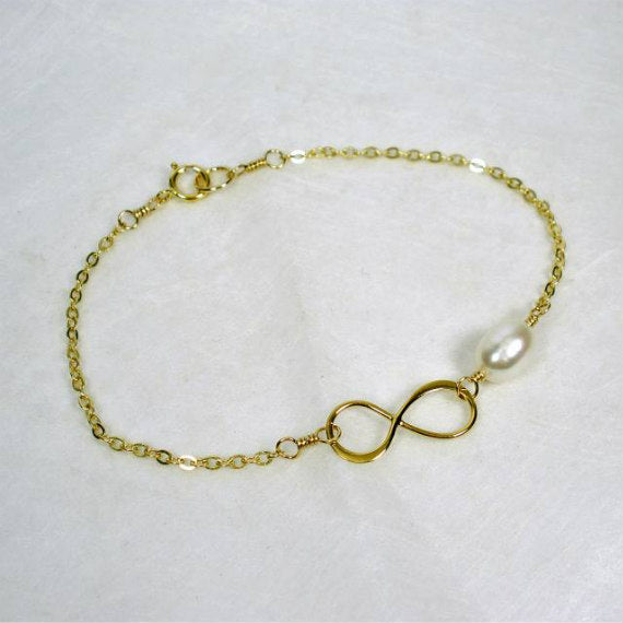 mother groom gift from son gold infinity bracelet