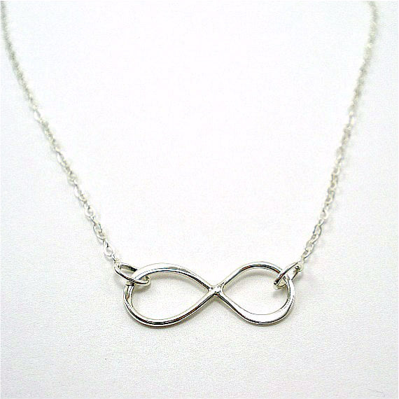 simple infinity necklace sterling silver infinity symbol minimalist