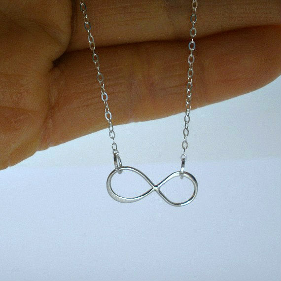 simple infinity necklace sterling silver