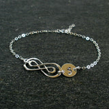 personalized infinity initial bracelet sterling silver