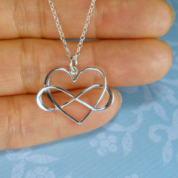 Mother's day gift idea Mom necklace best jewelry shop Infinity love Heart stering silver