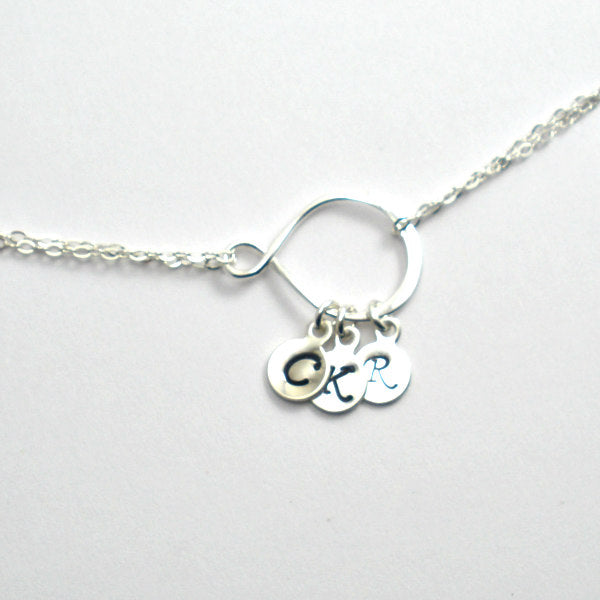Infinity Initial Bracelet - Sterling Silver