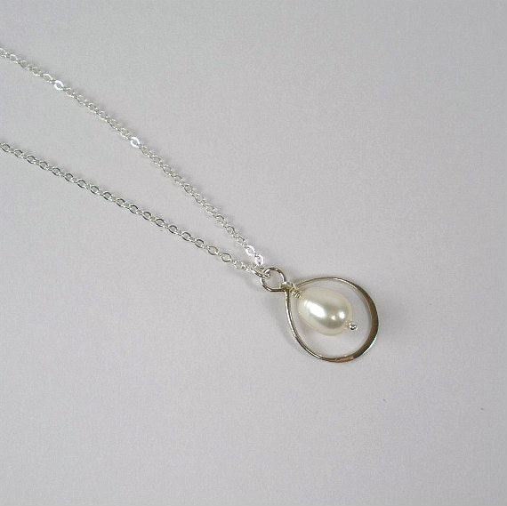 mom gifts pearl drop necklace message card jewelry