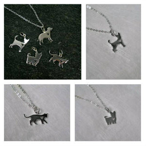 dog necklace for human, labrador yorkie chihuahua silver