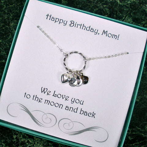 personalized mom mother in law birthday gift idea initial necklace