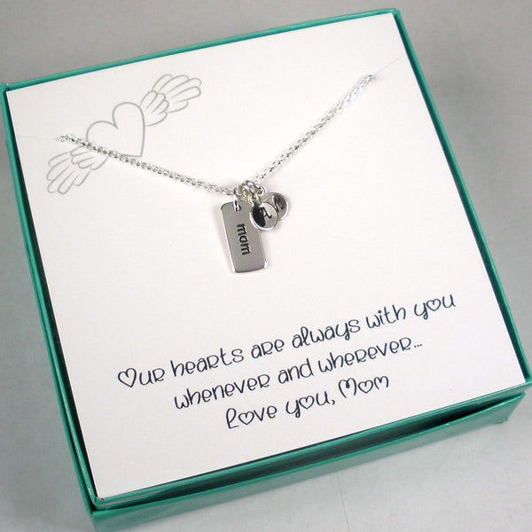 childrens initial necklace for mom gift