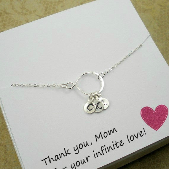 personalized mom gift childrens initial necklace birthday mothers day christmas gifts