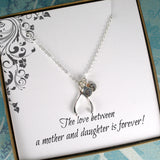 mother daughter necklace initial sterling silver