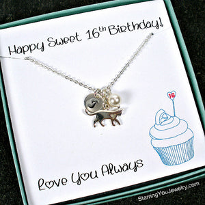 sweet 16 birthday gift ideas pet lover jewelry