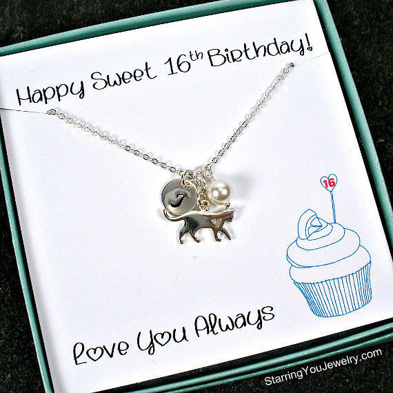 Sweet 16 Gift Ideas Daughter Birthday Pet Lover Jewelry