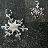 Christmas gift snowflake necklace sterling silver