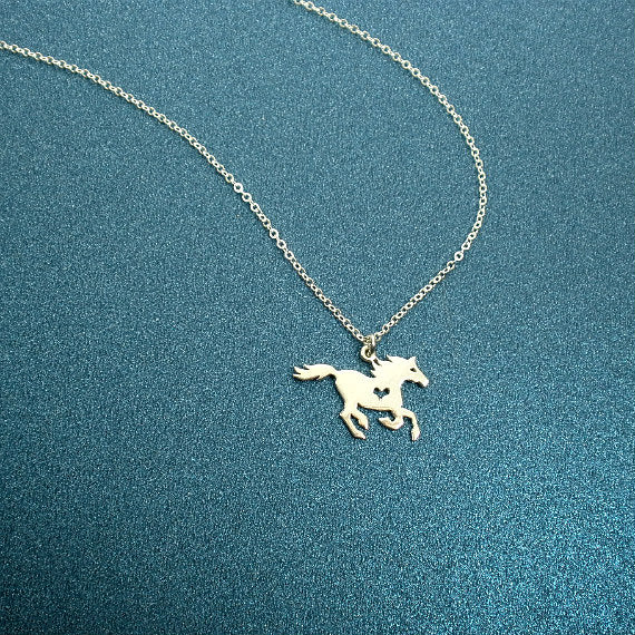 horse necklace equestrian jewelry horse lover gifts sterling silver